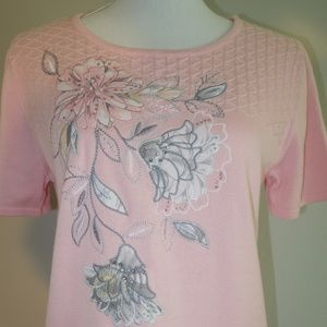 Alfred Dunner Light Pink Pullover Sweater